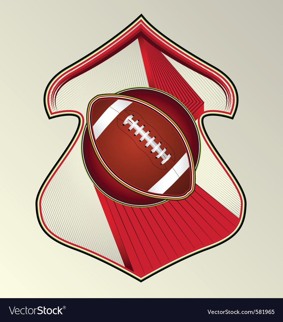 Gridiron football vector | Price: 1 Credit (USD $1)