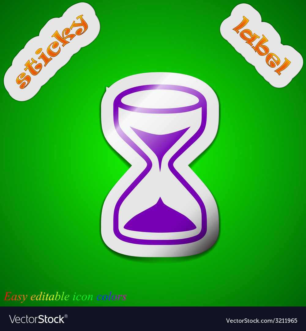 Hourglass icon sign symbol chic colored sticky vector | Price: 1 Credit (USD $1)
