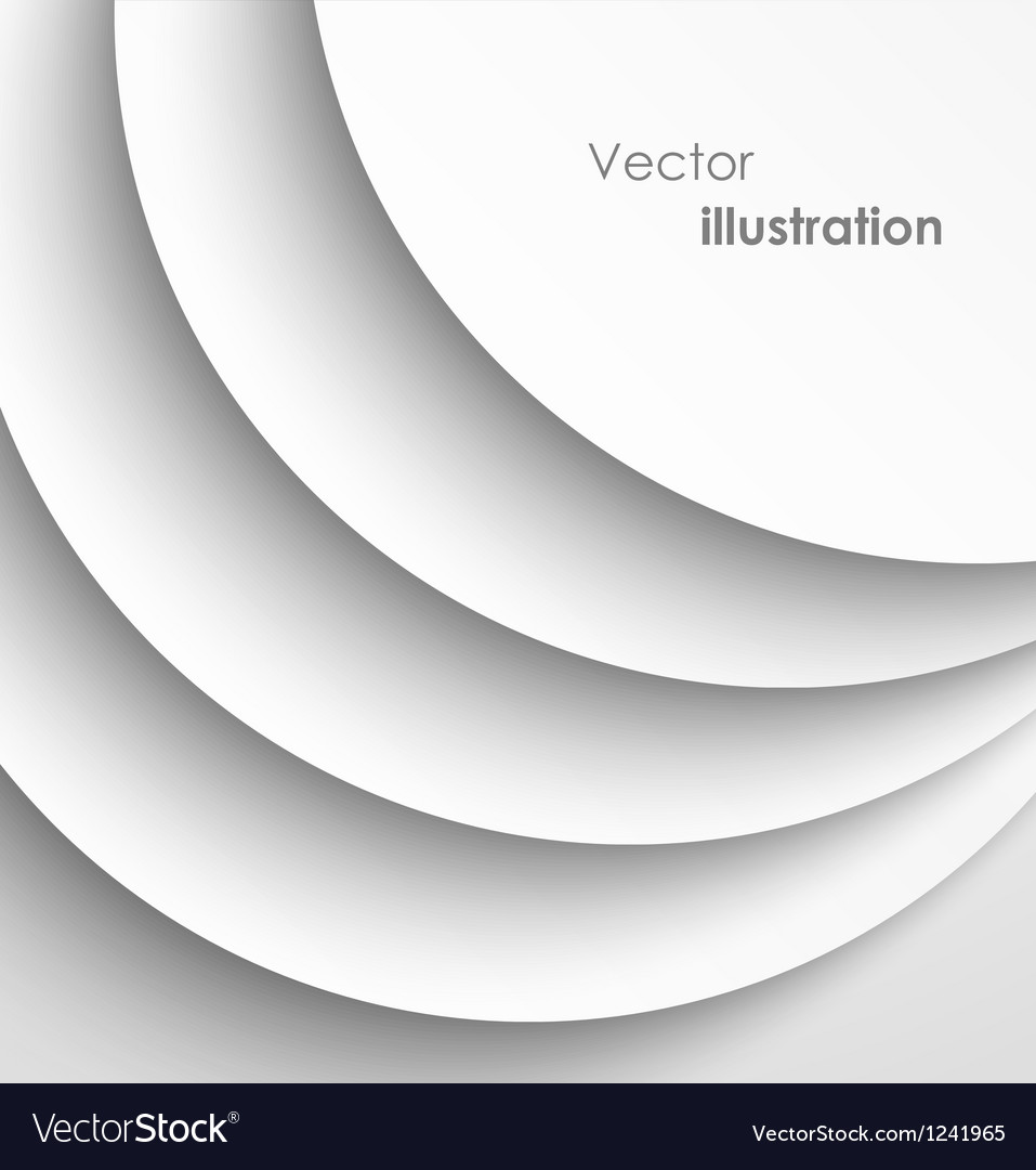 Paper circles with shadows background vector | Price: 1 Credit (USD $1)