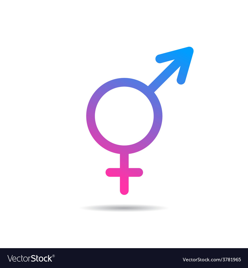 Transgender symbol icon vector | Price: 1 Credit (USD $1)