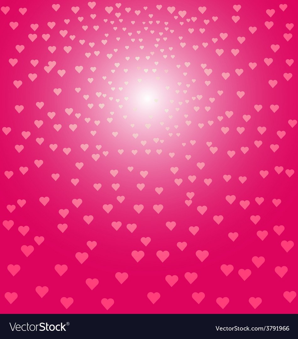 Abstract pink hearts background vector | Price: 1 Credit (USD $1)