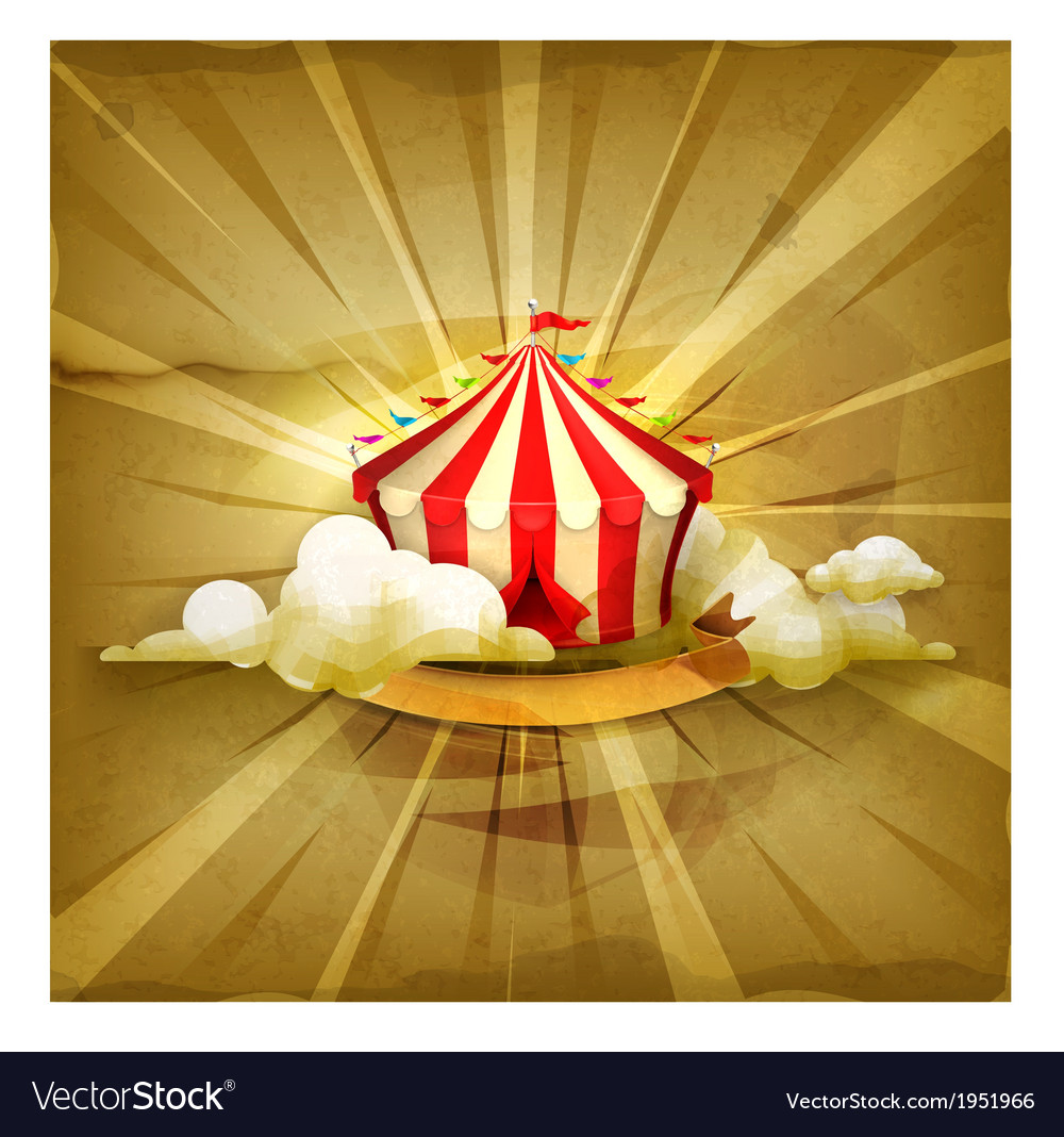 Circus old style background vector   Price: 1 Credit (USD $1)
