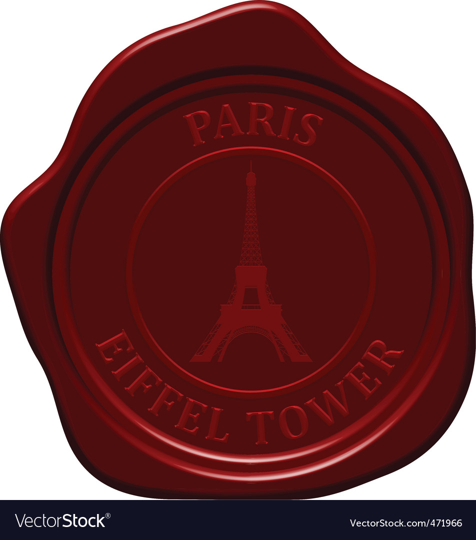 Eiffel tower wax seal vector | Price: 1 Credit (USD $1)