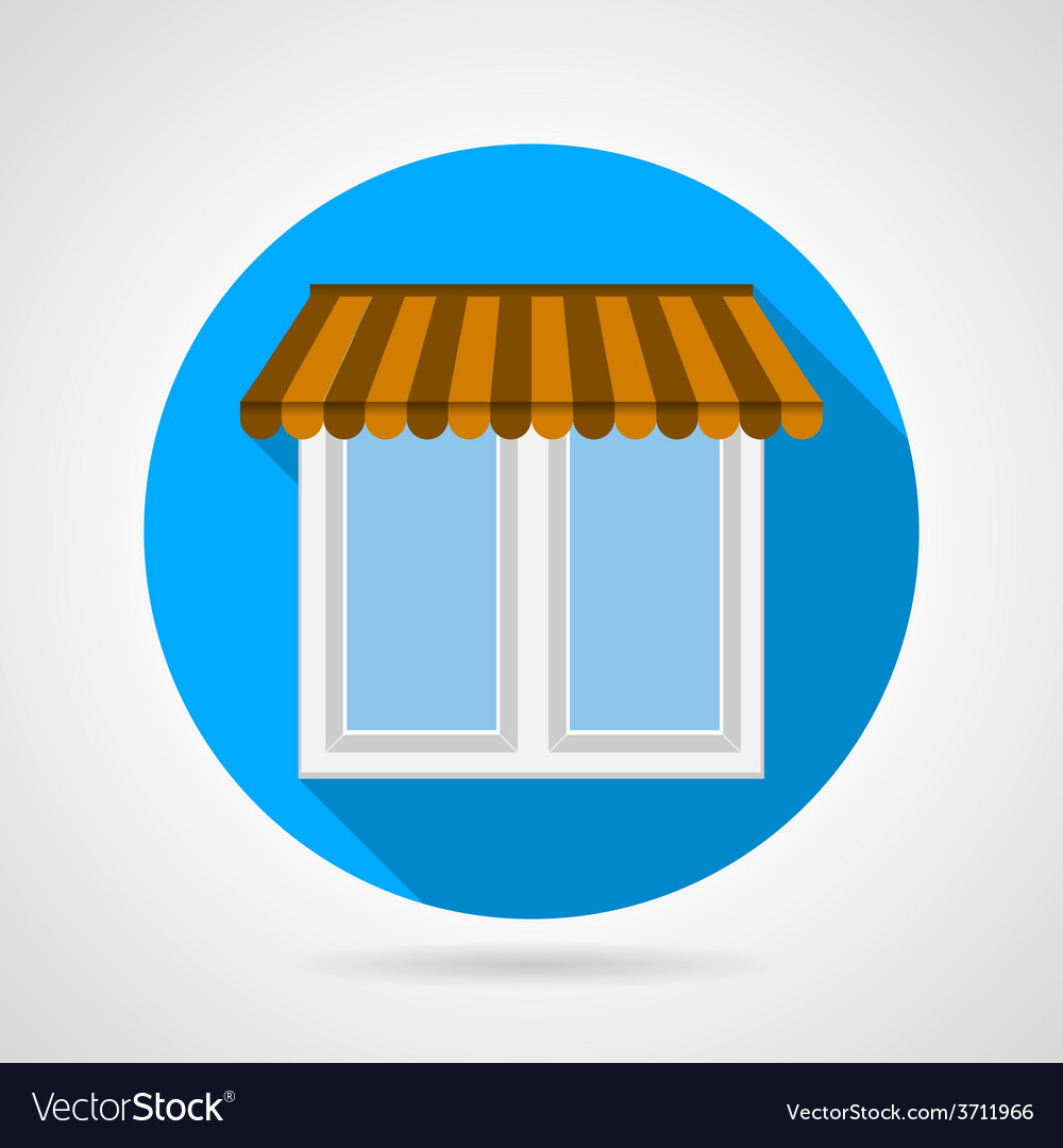 Flat icon for window with canopy vector | Price: 1 Credit (USD $1)