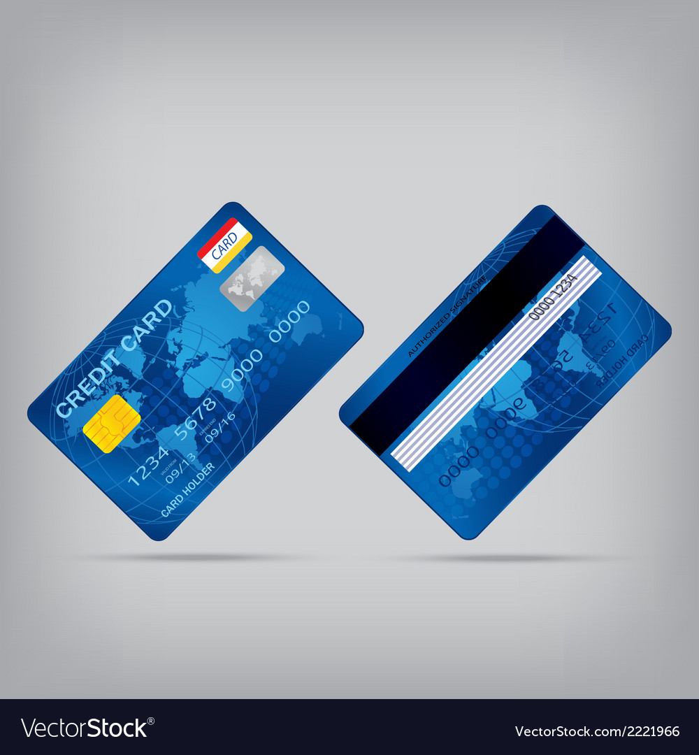 Popular blue premium extended business credit card vector   Price: 1 Credit (USD $1)