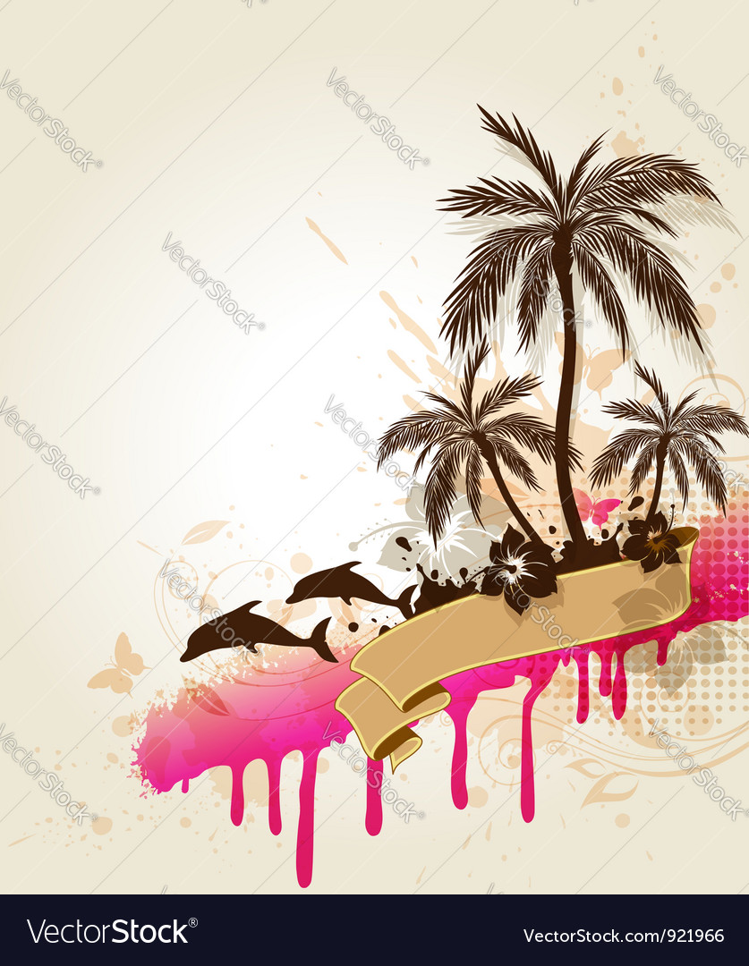 Tropic background vector | Price: 1 Credit (USD $1)