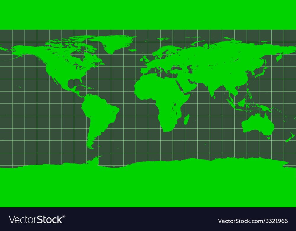 Worldmap in green vector | Price: 1 Credit (USD $1)