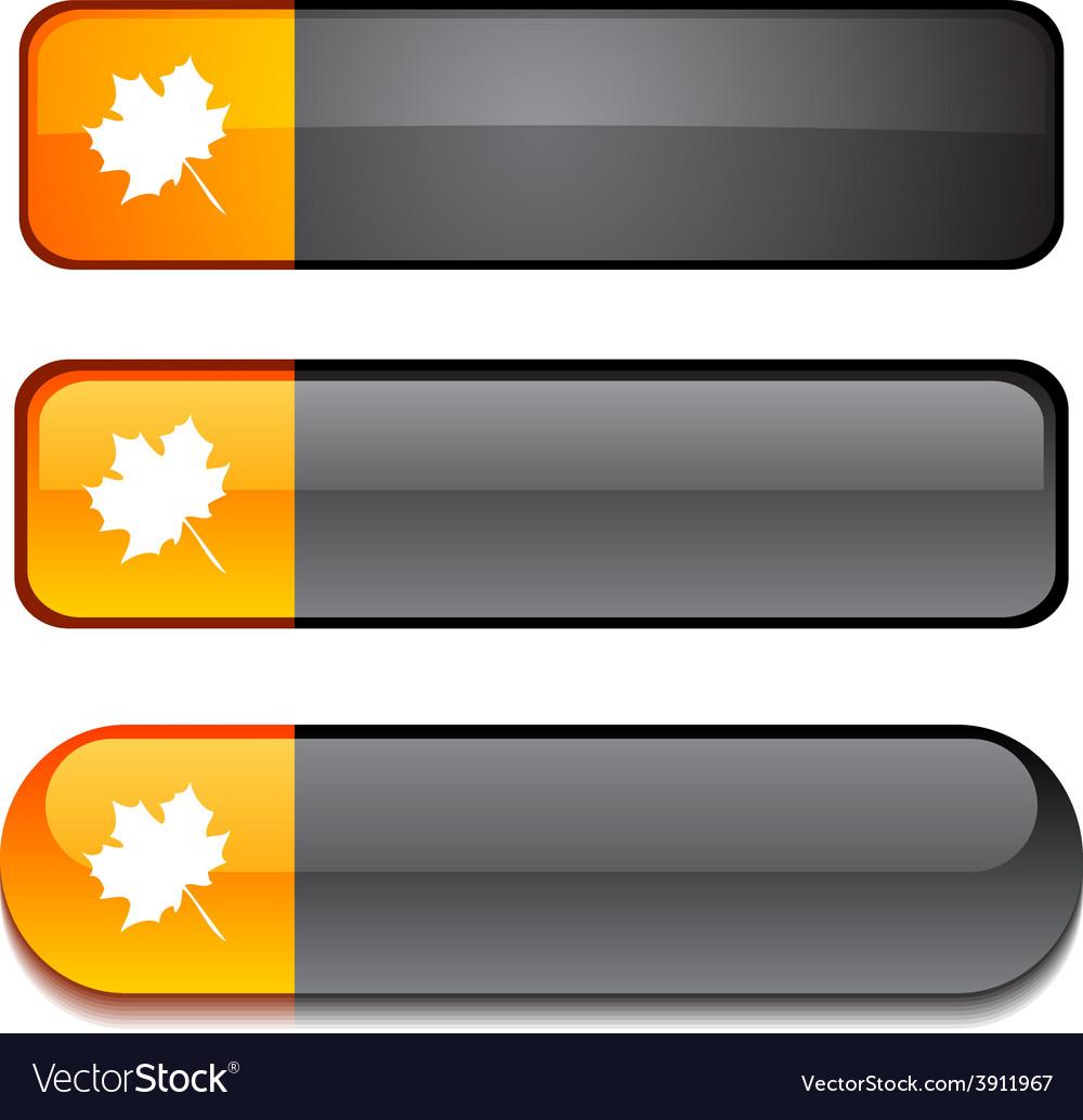Autumn button set vector | Price: 1 Credit (USD $1)