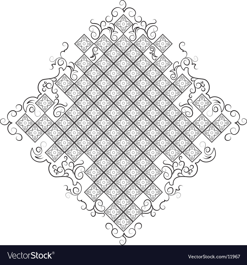 Baroque background all curves separately vector | Price: 1 Credit (USD $1)