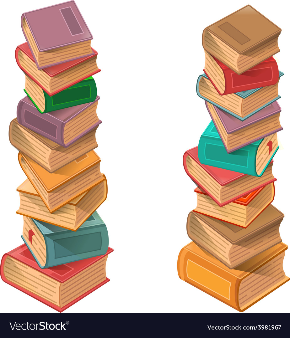 Books stack vector | Price: 3 Credit (USD $3)