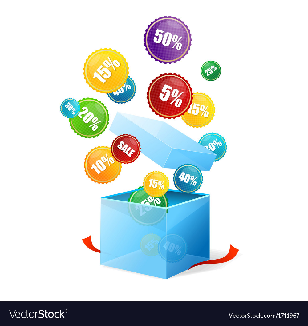 Box and sale labels vector | Price: 1 Credit (USD $1)