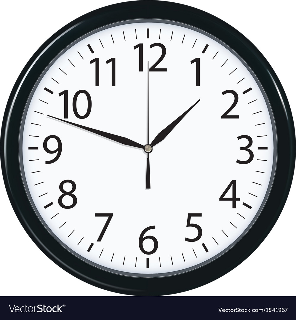Clock face isolated vector | Price: 1 Credit (USD $1)