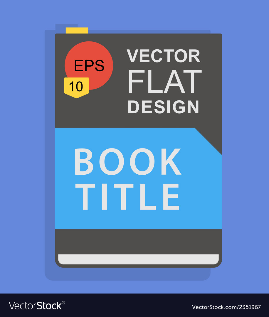 Flat book icon vector | Price: 1 Credit (USD $1)