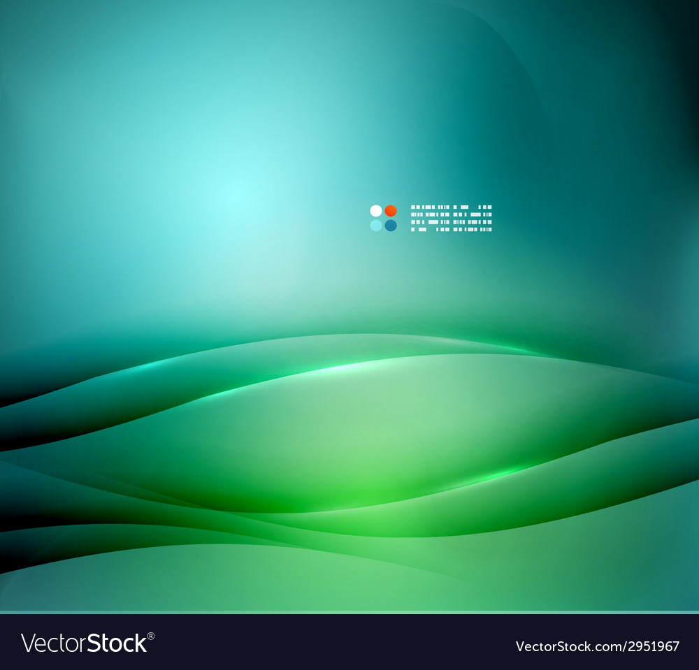 Green and blue blurred design template vector | Price: 1 Credit (USD $1)