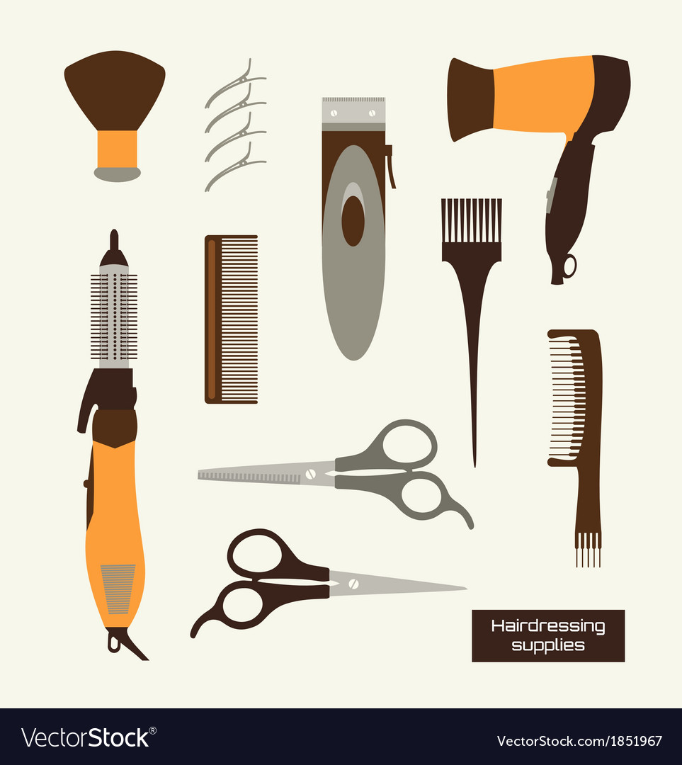 Hairdressing supplies vector | Price: 1 Credit (USD $1)