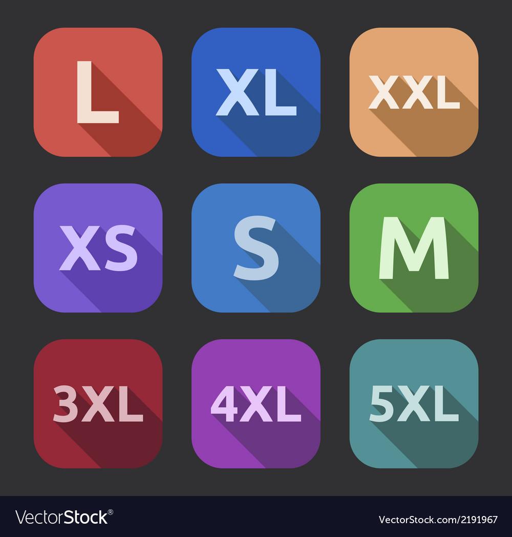 Icon set long shadow vector | Price: 1 Credit (USD $1)