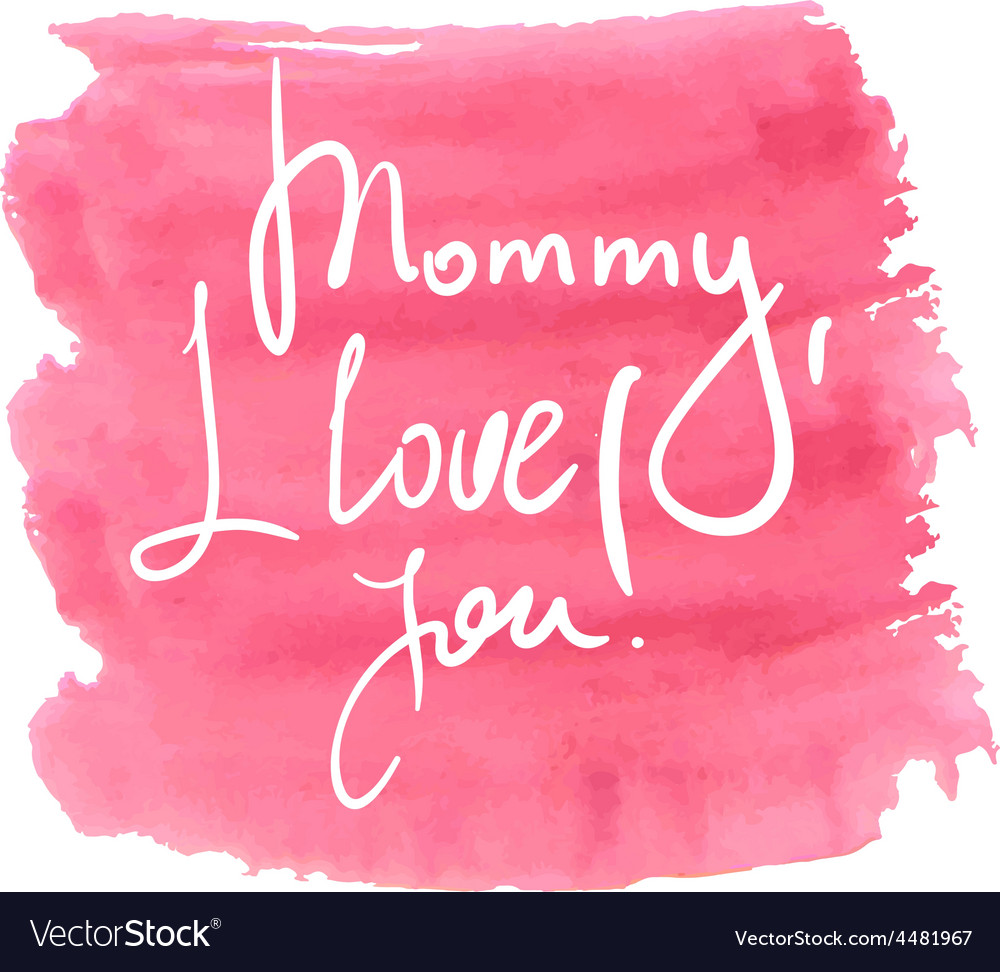 Lettering for mothers day vector   Price: 1 Credit (USD $1)