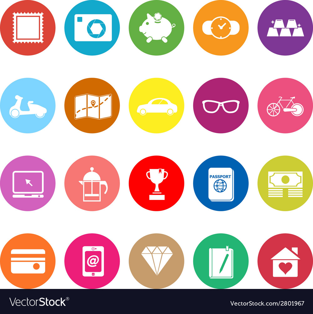 The useful collection flat icons on white vector | Price: 1 Credit (USD $1)
