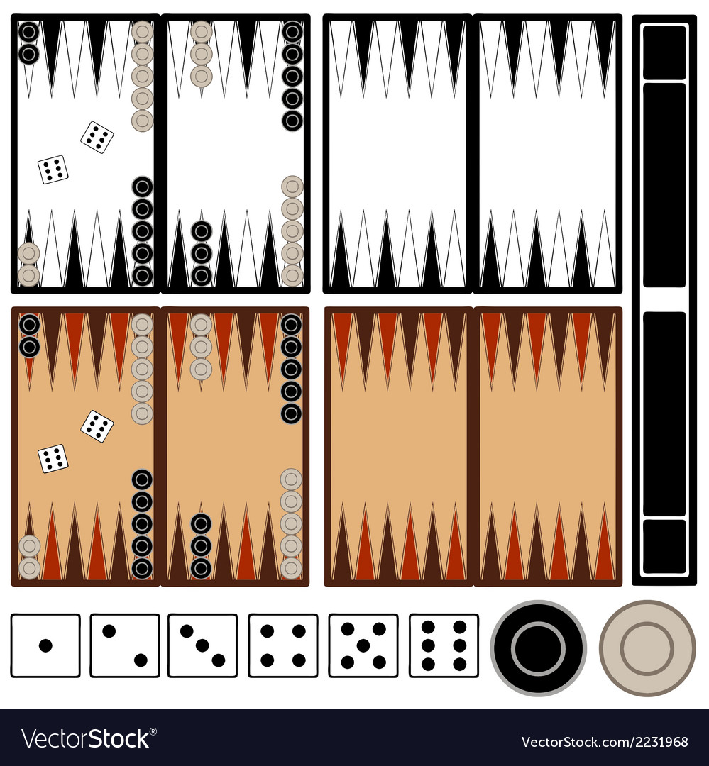 Backgammon game vector | Price: 1 Credit (USD $1)