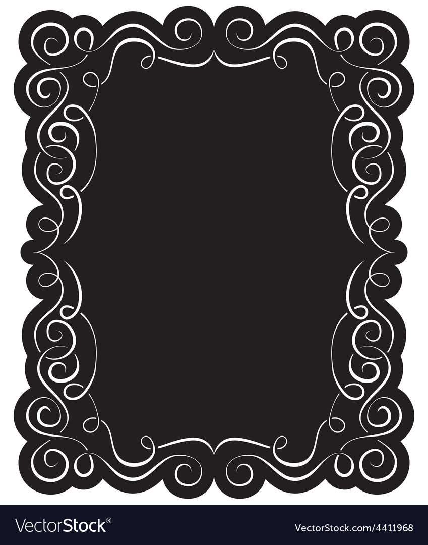 Black frame with elegant border vector | Price: 1 Credit (USD $1)