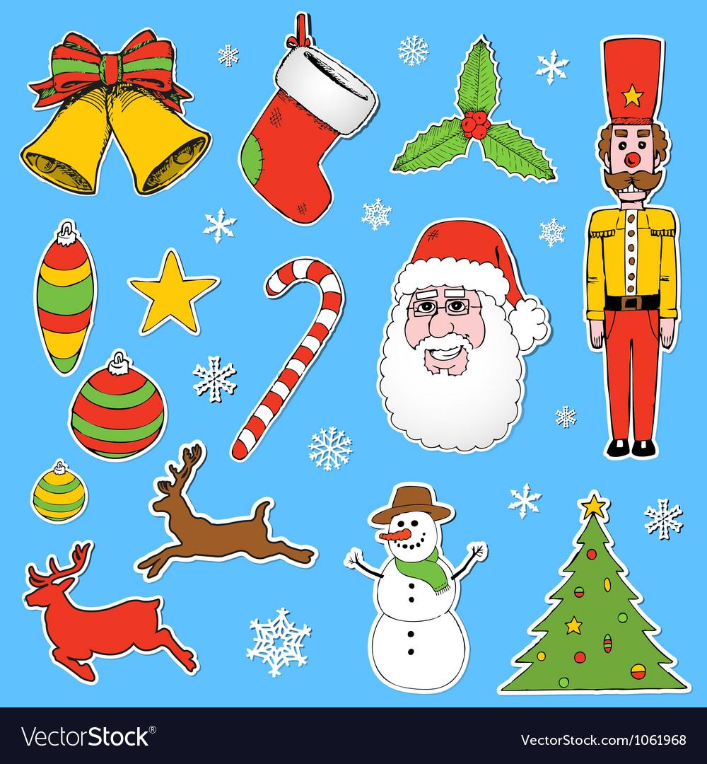 Cartoon christmas elements vector   Price: 1 Credit (USD $1)