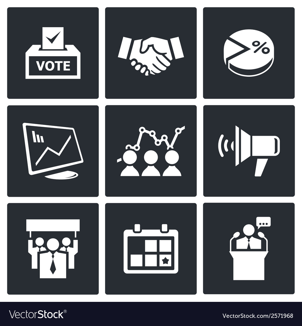 Election icons collection vector | Price: 1 Credit (USD $1)