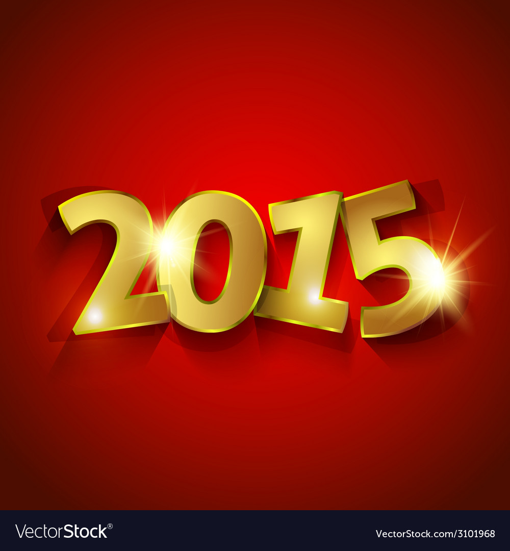 Golden 2015 new year vector | Price: 1 Credit (USD $1)