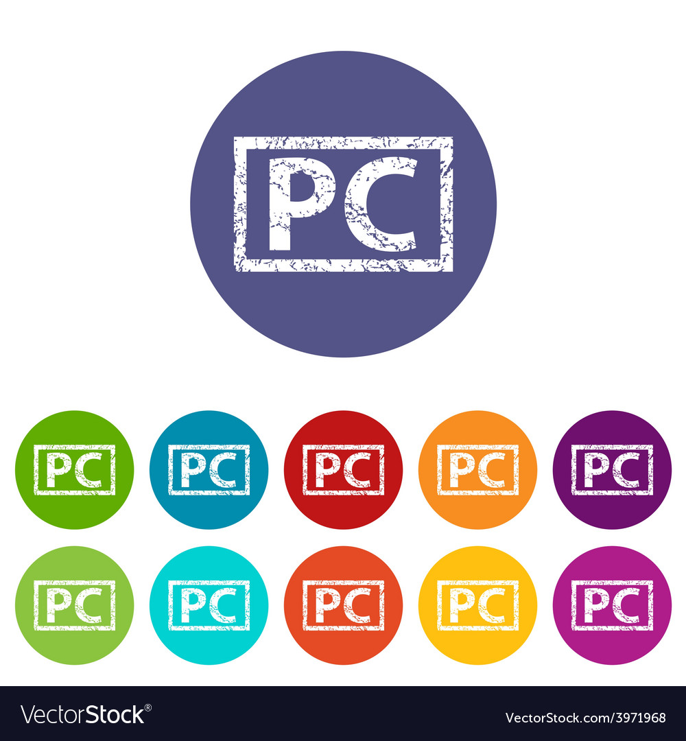 Pc flat icon vector | Price: 1 Credit (USD $1)