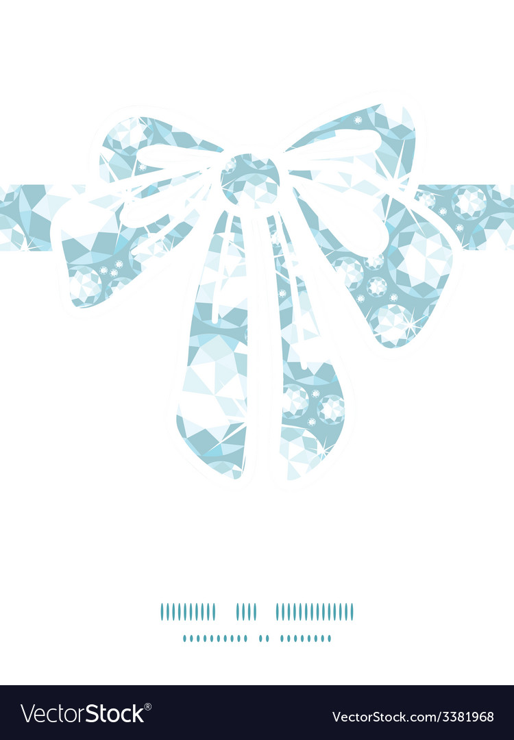 Shiny diamonds gift bow silhouette pattern frame vector | Price: 1 Credit (USD $1)