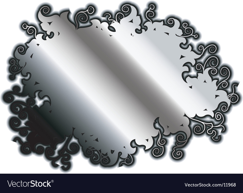 Silver rococo background vector | Price: 1 Credit (USD $1)