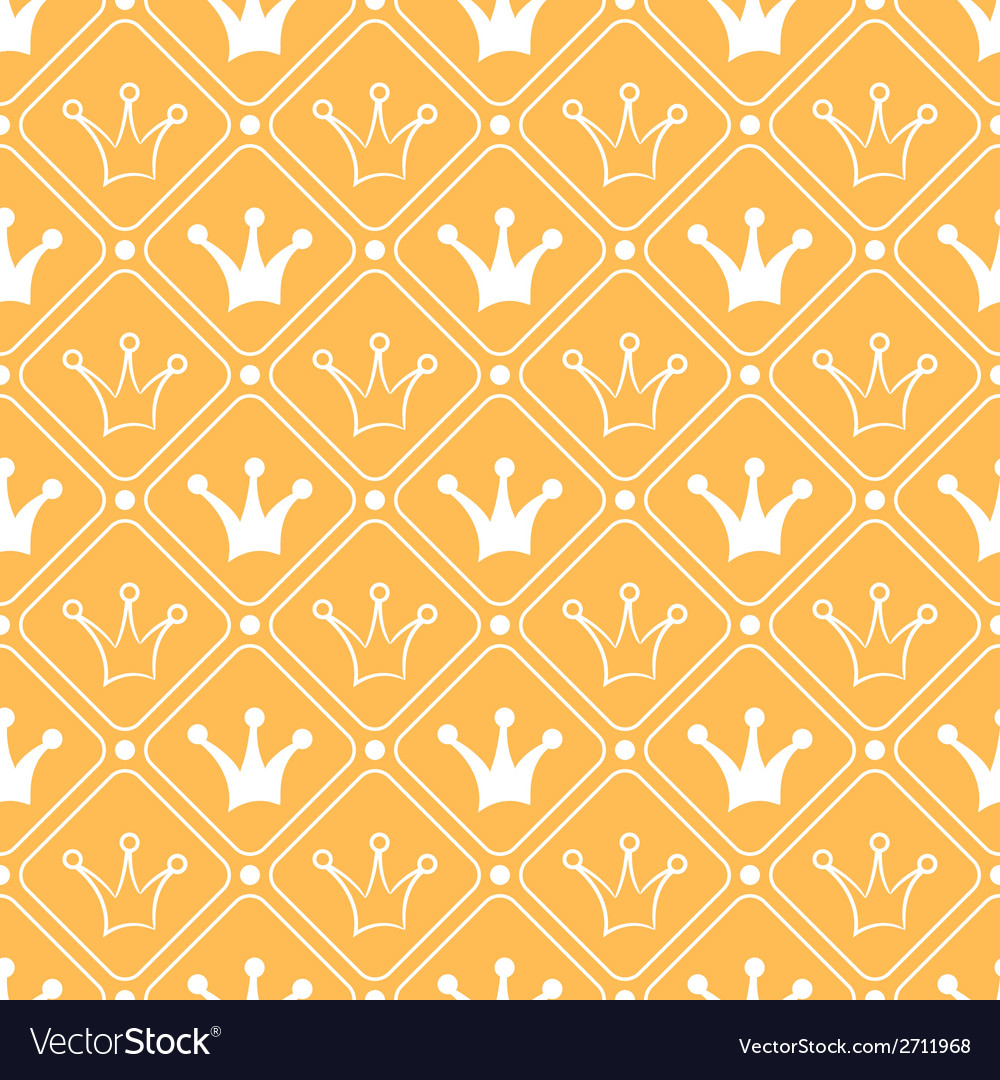 Simple seamless pattern with crown orange and vector | Price: 1 Credit (USD $1)
