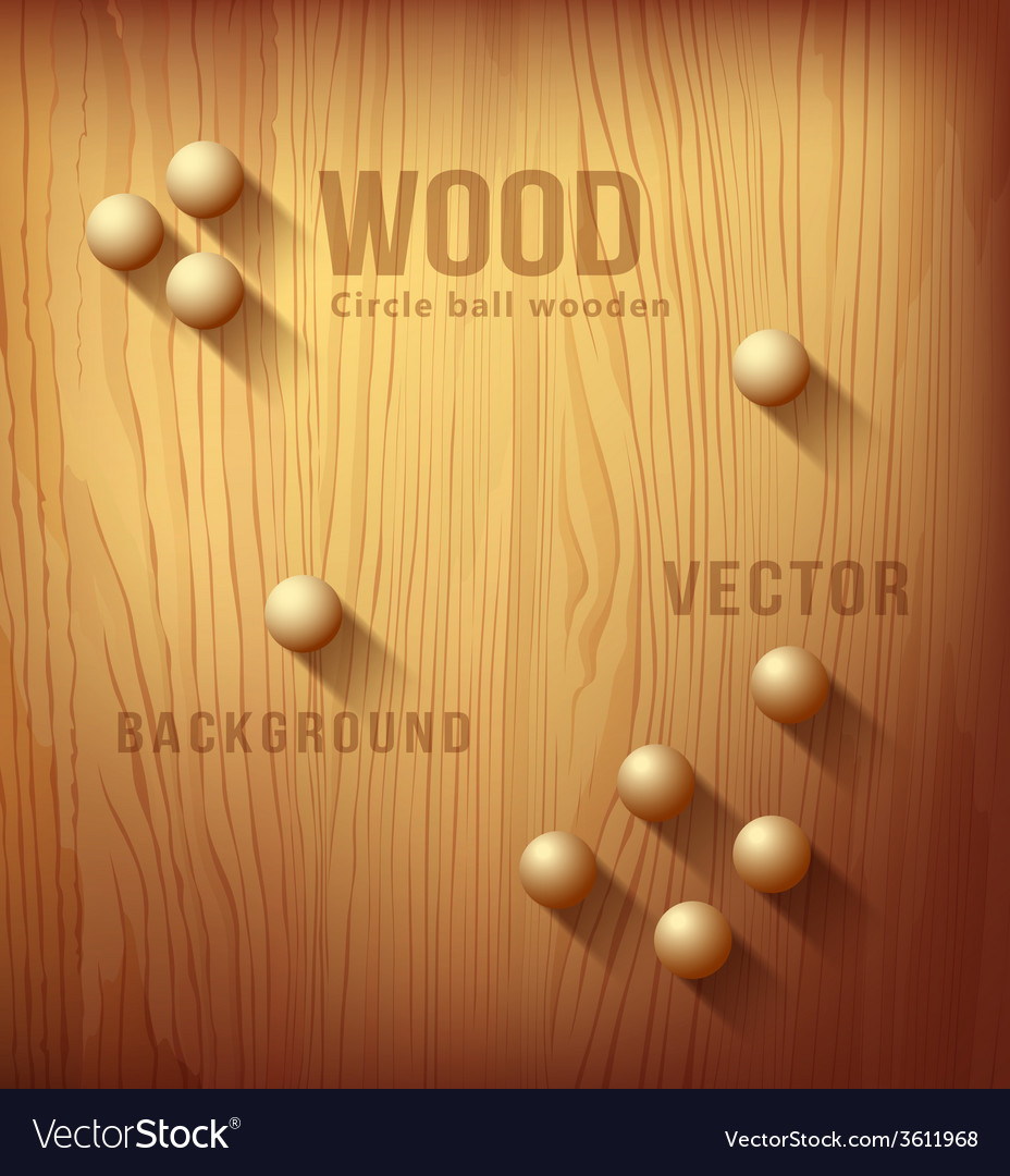 Wood texture realistic and circle designs ball vector | Price: 1 Credit (USD $1)
