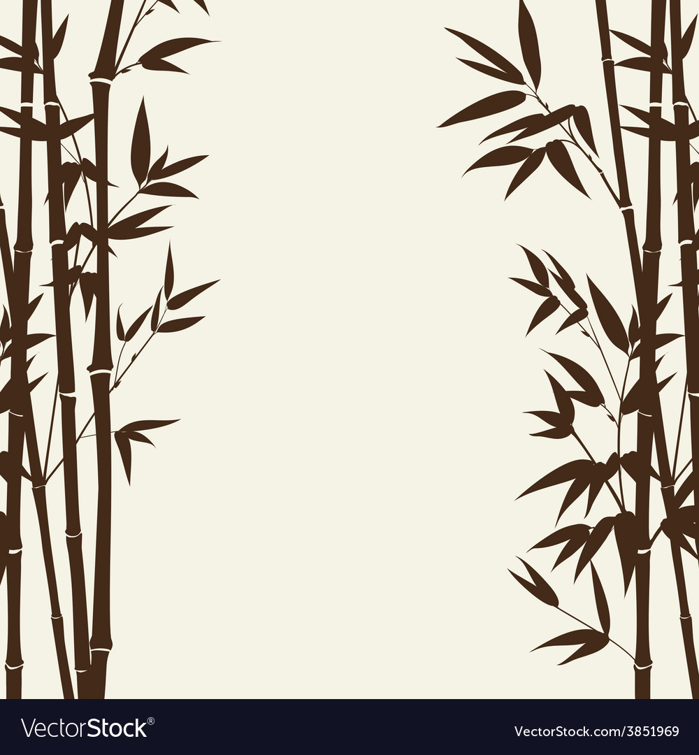 Bamboo forest card vector | Price: 1 Credit (USD $1)
