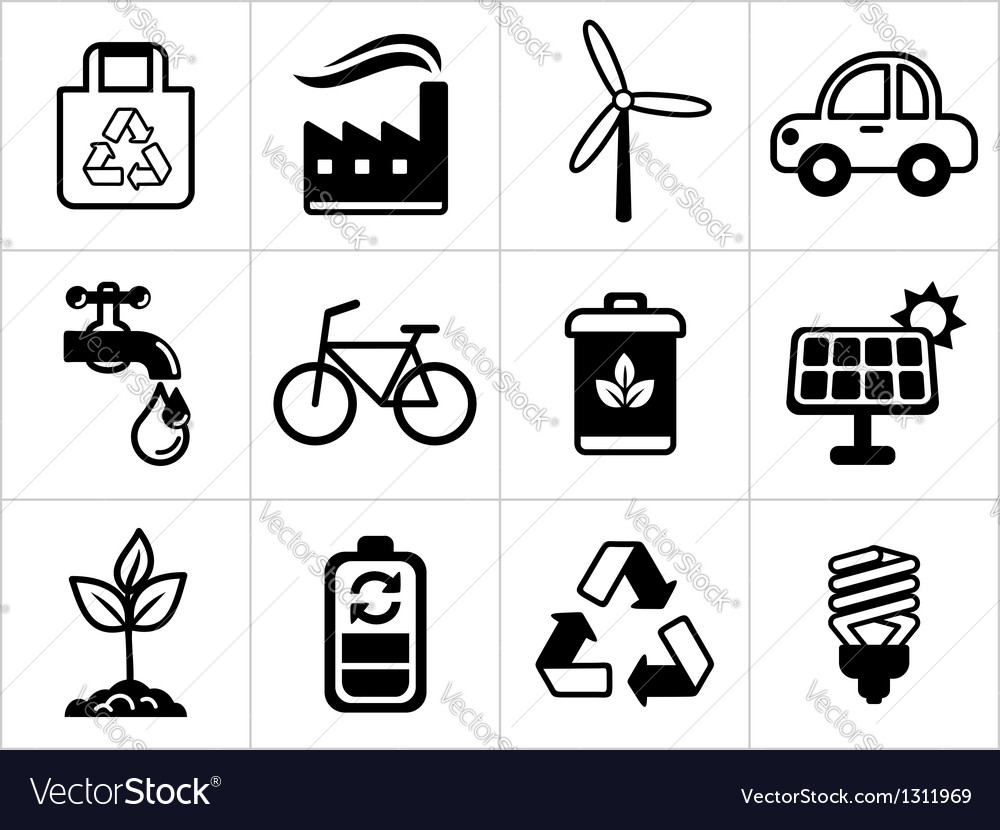 Eco icons vector   Price: 1 Credit (USD $1)