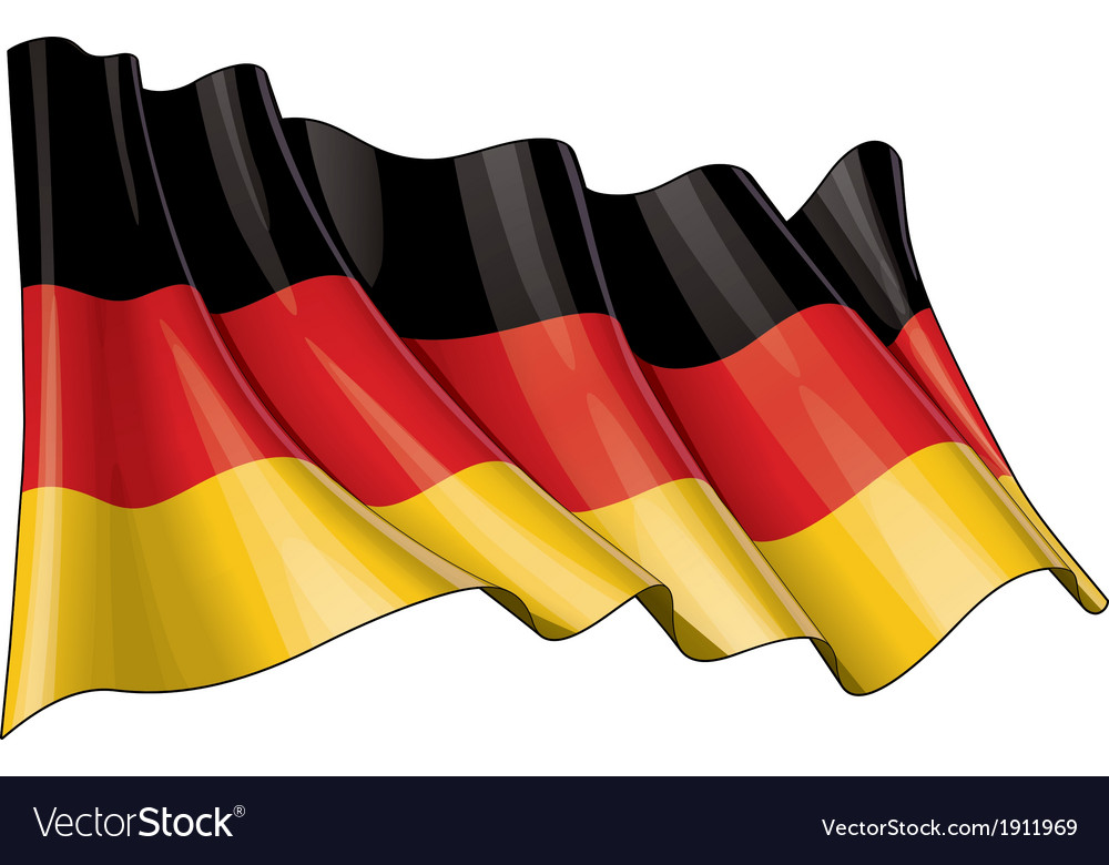 Germany national flag vector | Price: 1 Credit (USD $1)