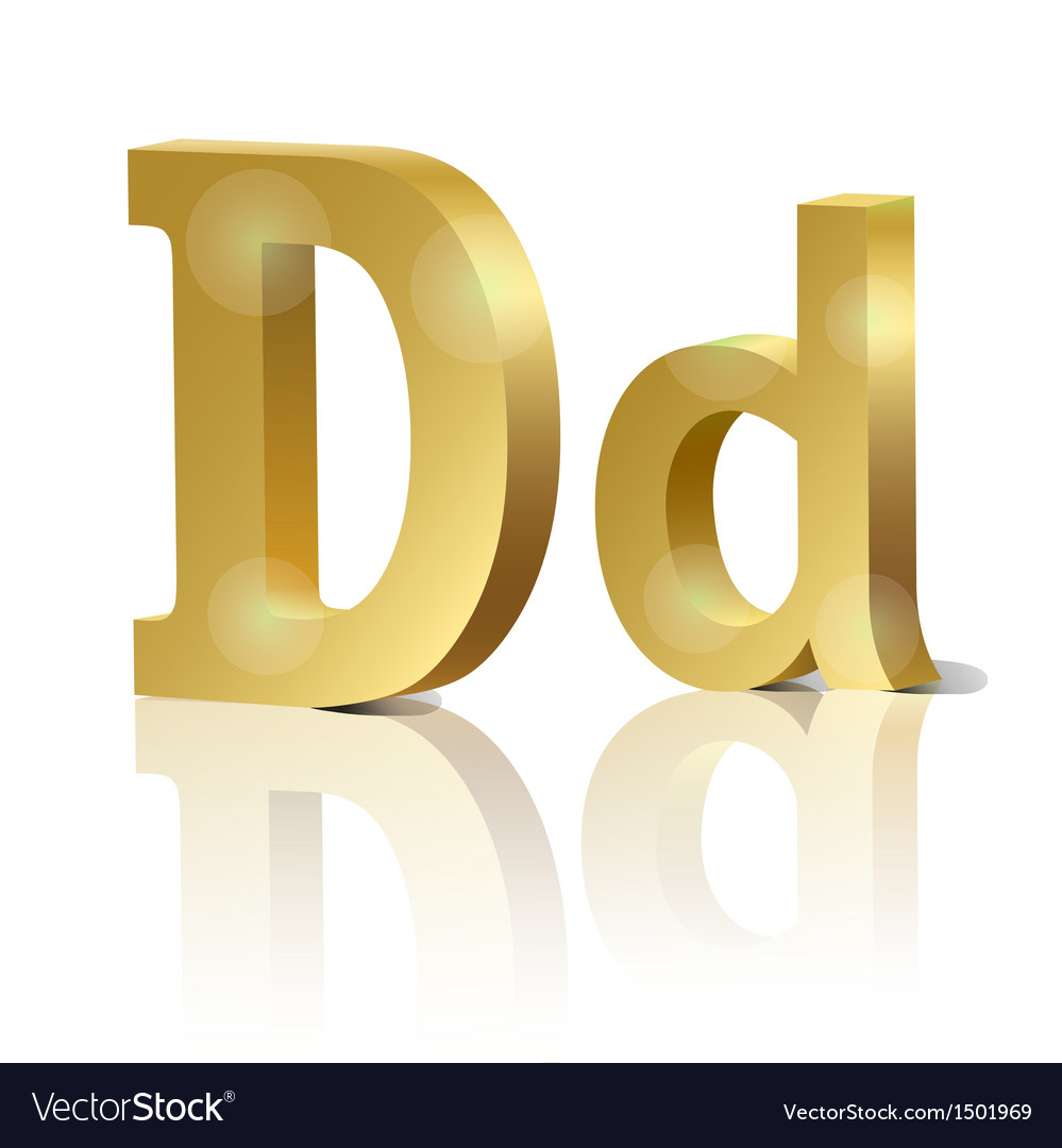 Golden letter d vector | Price: 1 Credit (USD $1)