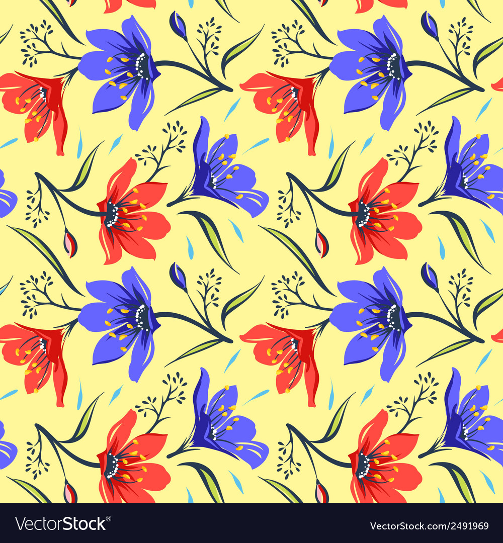 Seamless floral pattern 2 vector | Price: 1 Credit (USD $1)