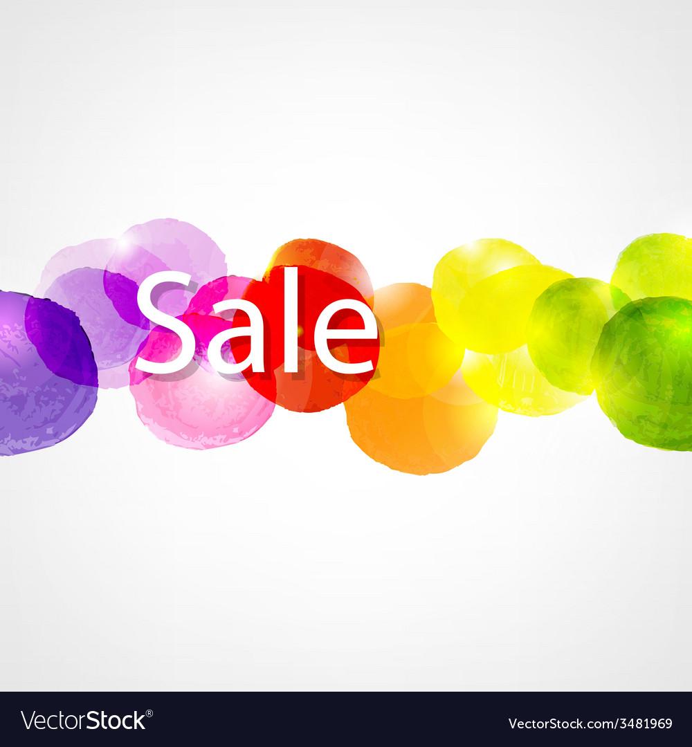 Watercolor sale poster vector | Price: 1 Credit (USD $1)