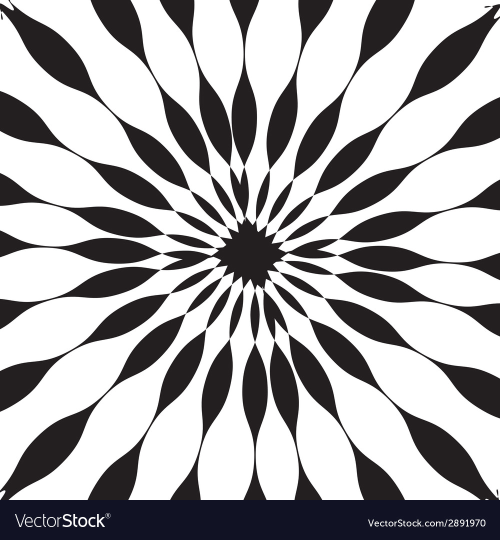 Black and white abstract psychedelic art vector | Price: 1 Credit (USD $1)