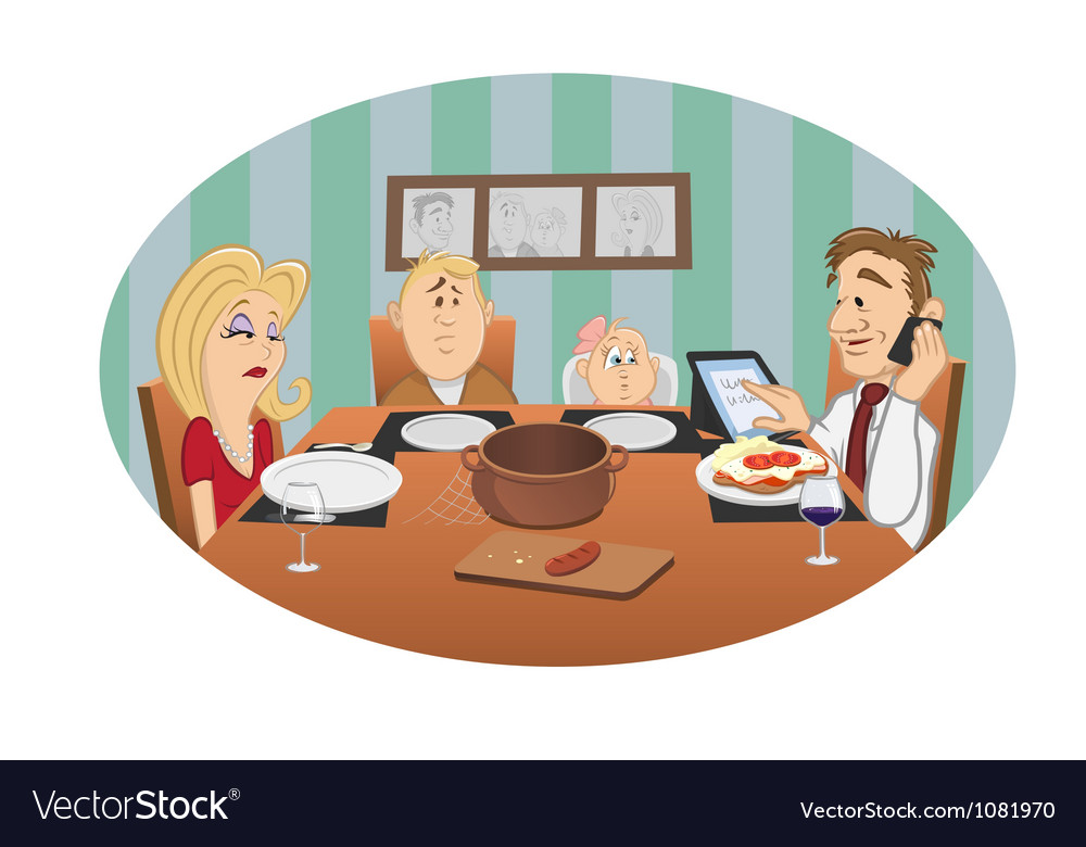 Family dinner vector | Price: 3 Credit (USD $3)
