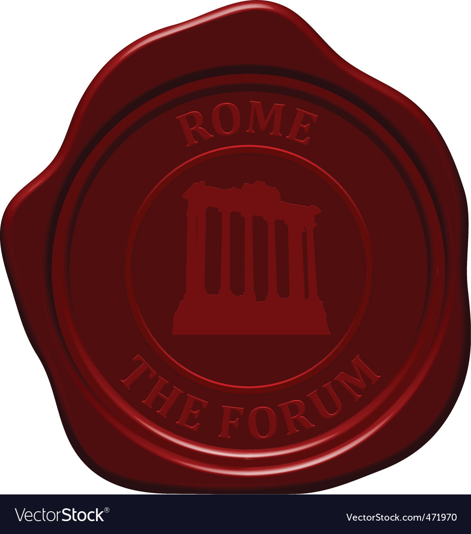 Forum sealing wax vector | Price: 1 Credit (USD $1)