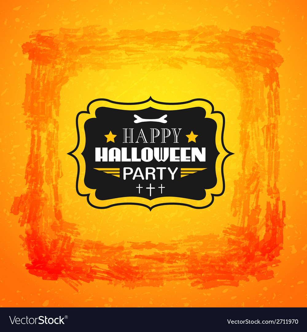 Happy halloween card typography letters font type vector | Price: 1 Credit (USD $1)