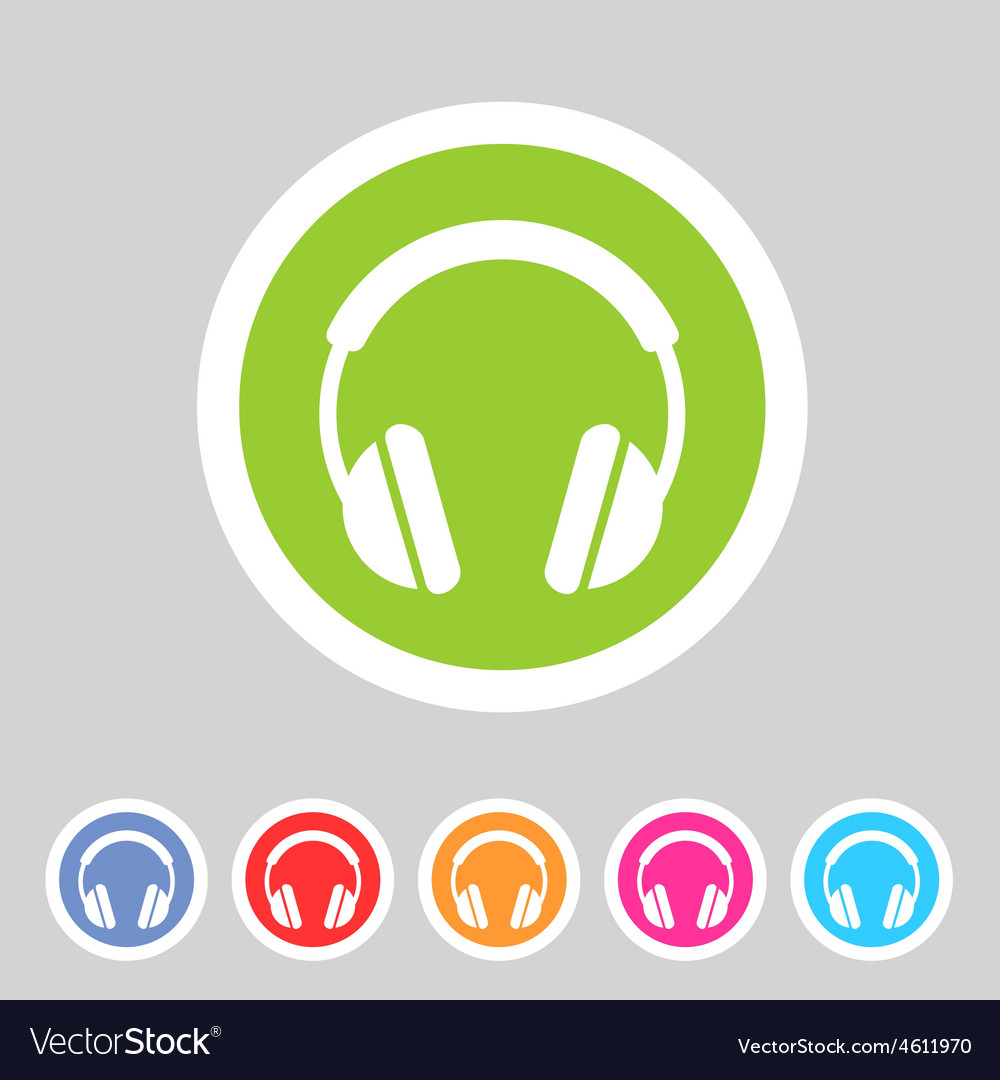 Headphone dj icon sign symbol logo label vector | Price: 1 Credit (USD $1)