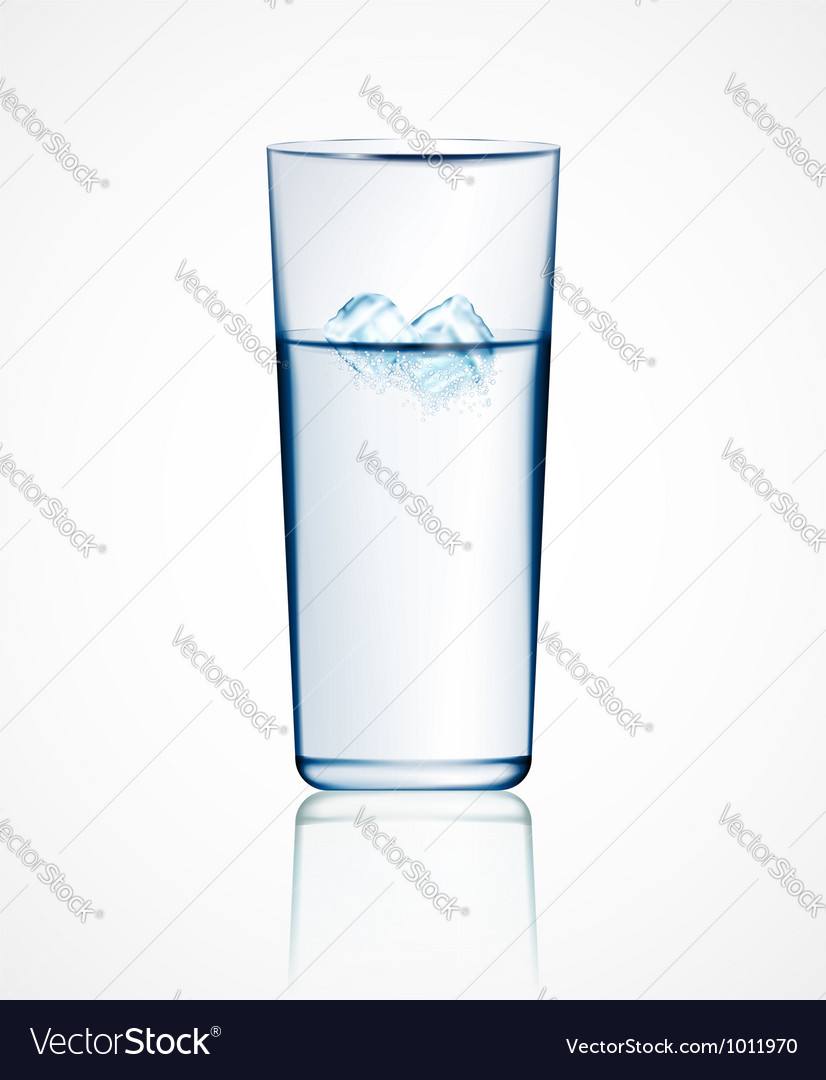 Ice water vector | Price: 1 Credit (USD $1)