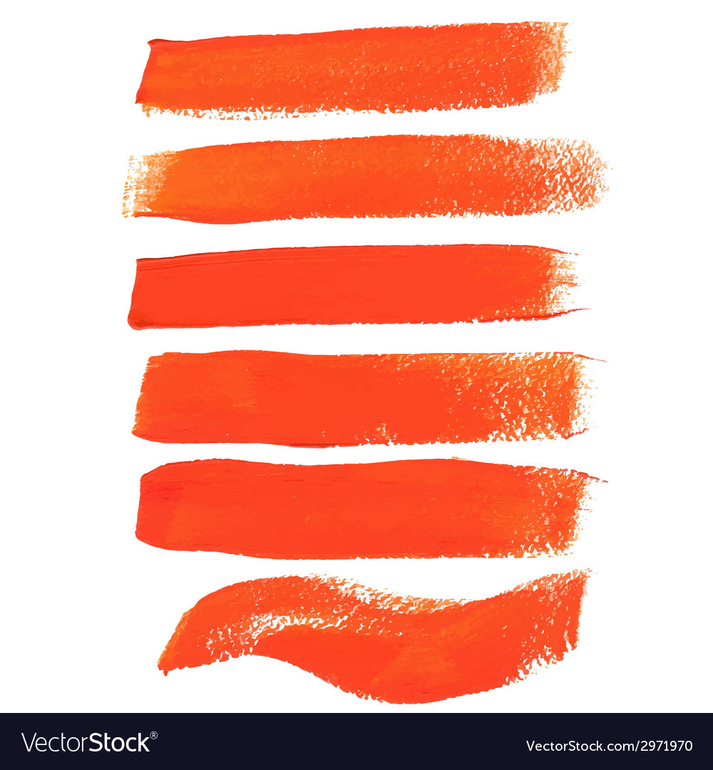 Orange ink brush strokes vector | Price: 1 Credit (USD $1)