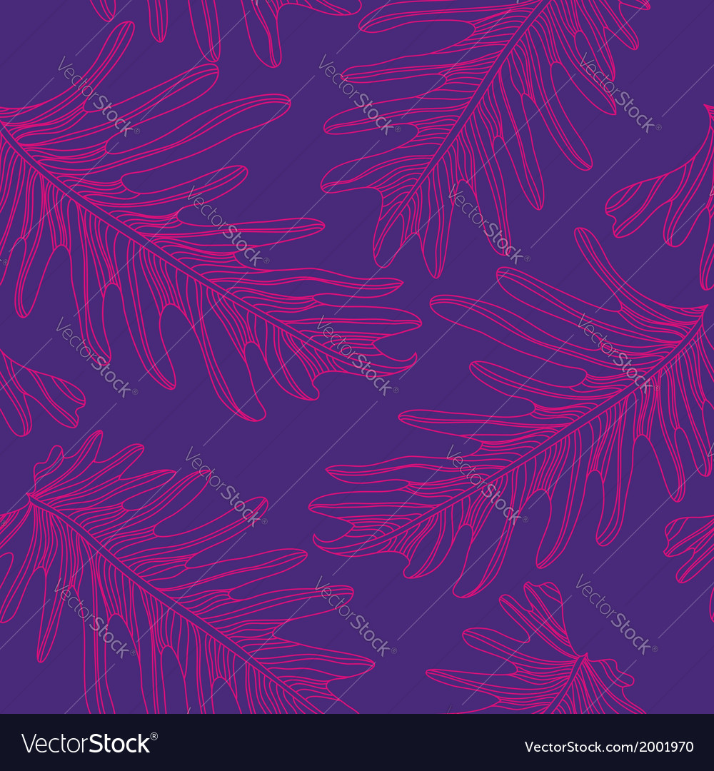 Palm trees seamless pattern background with hand vector | Price: 1 Credit (USD $1)