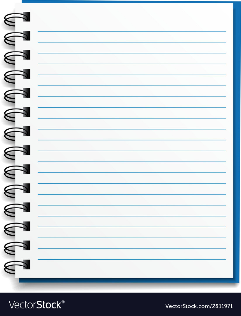 Blank lined notebook vector | Price: 1 Credit (USD $1)
