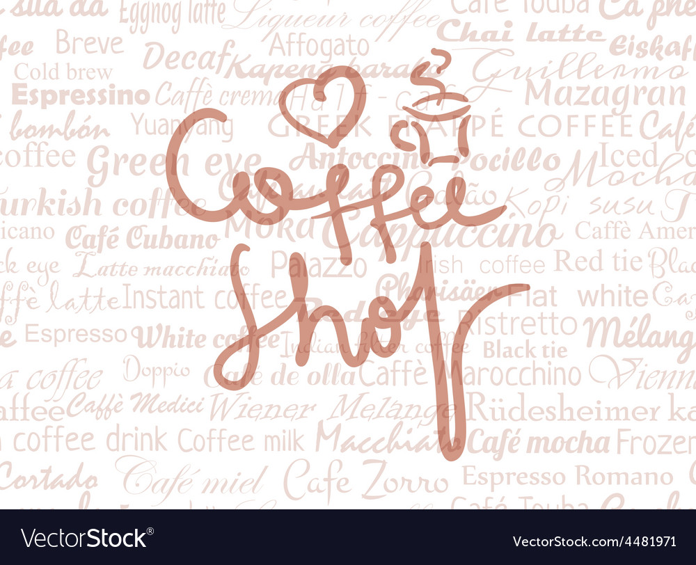 Coffee shop lettering vector | Price: 1 Credit (USD $1)