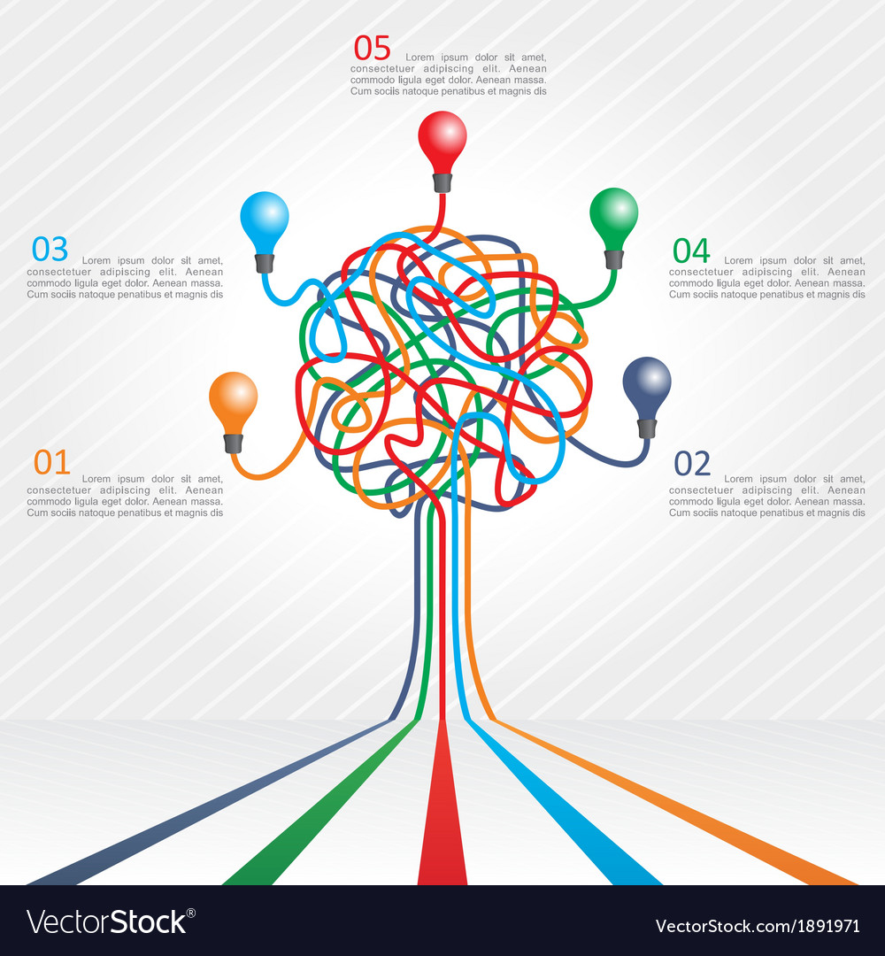 Concept of colorful tree for business design vector | Price: 1 Credit (USD $1)