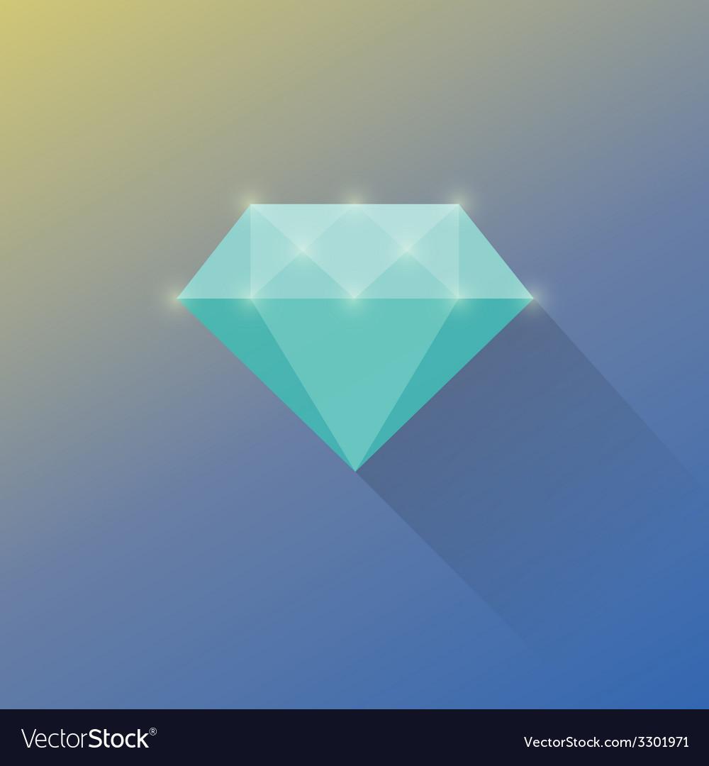Diamond cuts flat icon vector | Price: 1 Credit (USD $1)